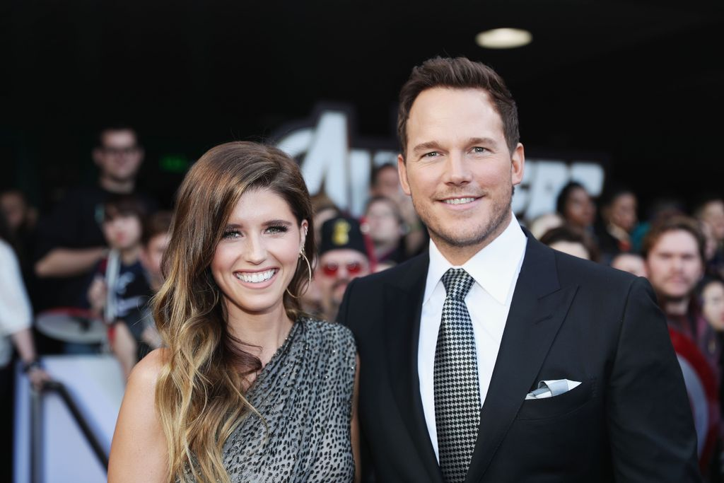 Katherine Schwarzenegger and Chris Pratt at the world premiere of