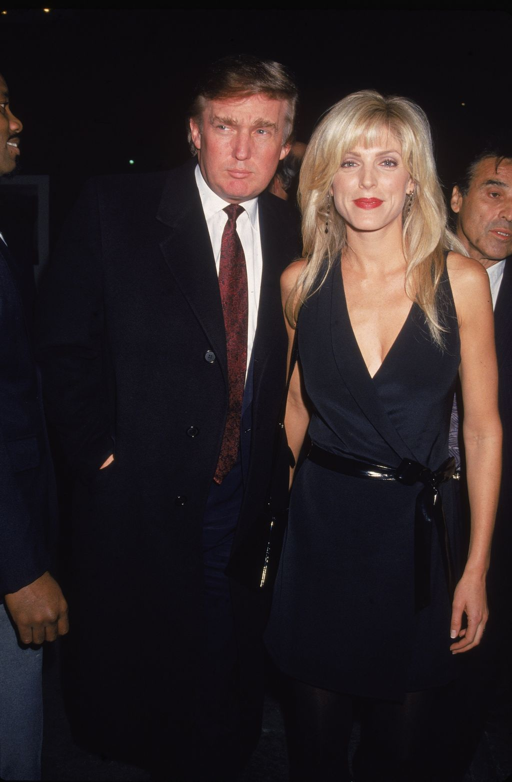 Donald Trump and Marla Maples at the premiere of the film,