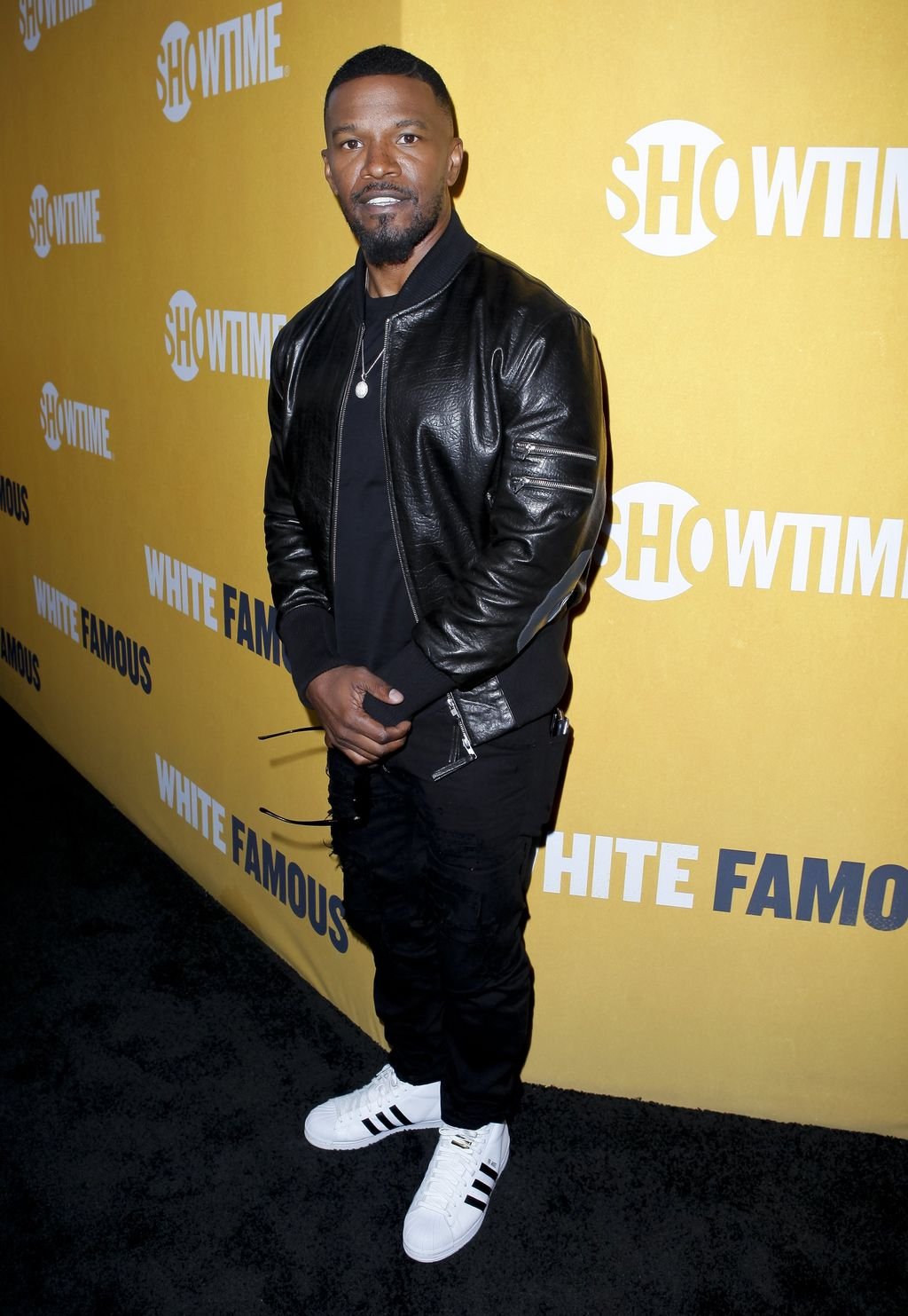 Jamie Foxx attends the premiere of Showtime
