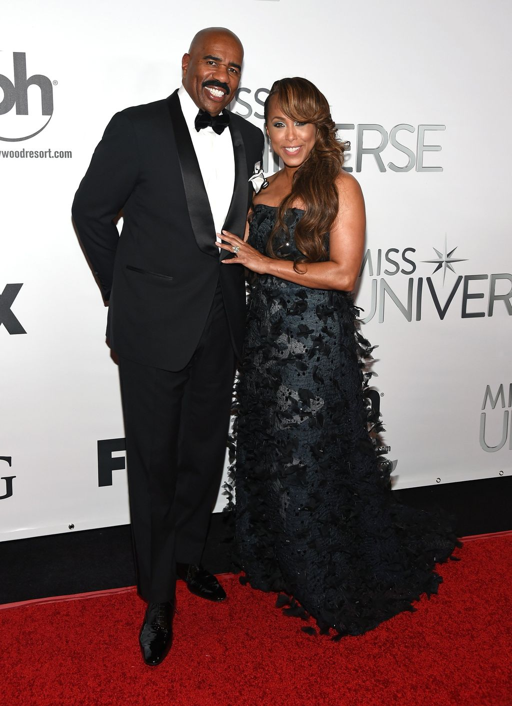 Steve & Marjorie Harvey at the 2015 Miss Universe Pageant on December 20, 2015 in Las Vegas | Photo: Getty Images