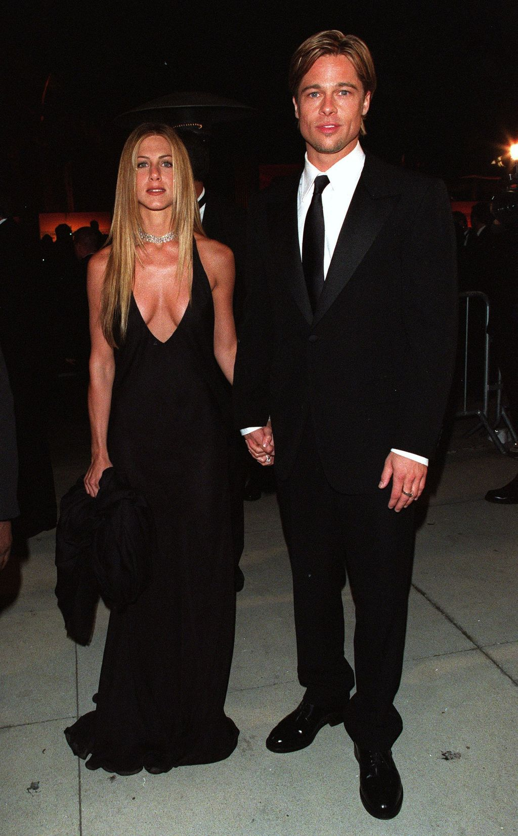 Jennifer Aniston and Brad Pitt at the Vanity Fair Party held at Morton