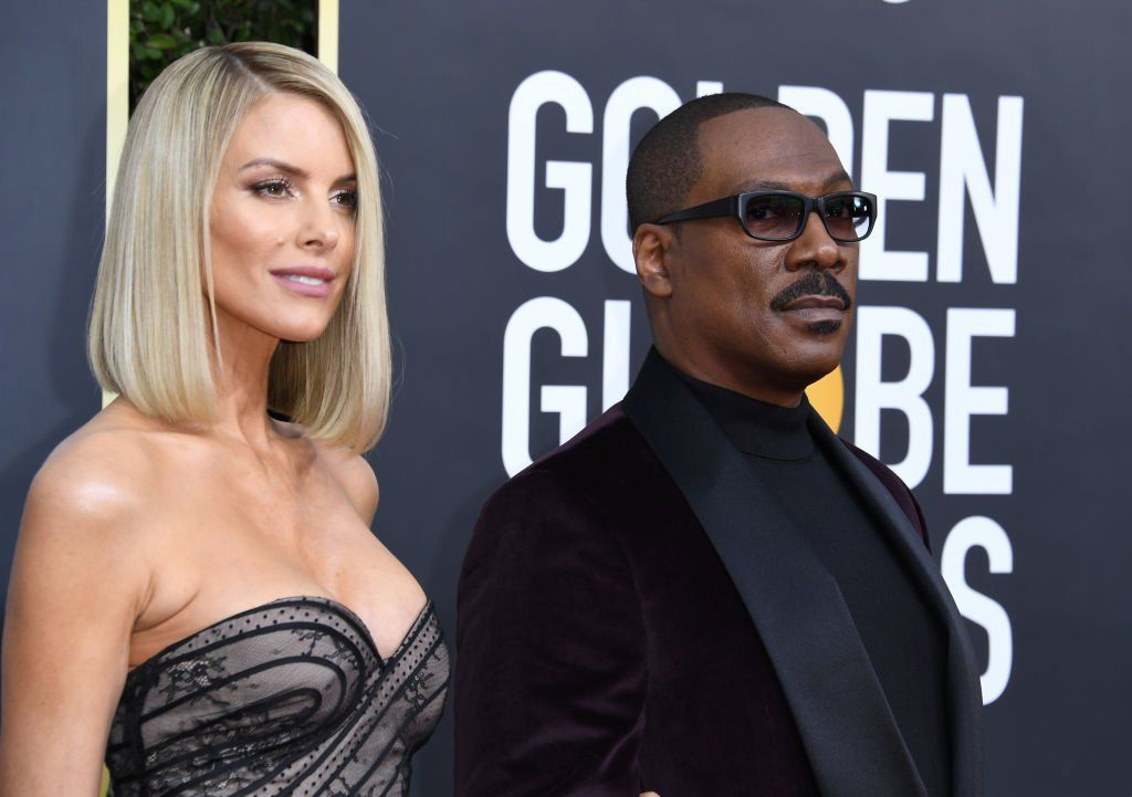 Paige Butcher and Eddie Murphy at the red carpet of the 77th Annual Golden Globe Awards at The Beverly Hilton Hotel on January 5, 2020. | Photo: Getty Images