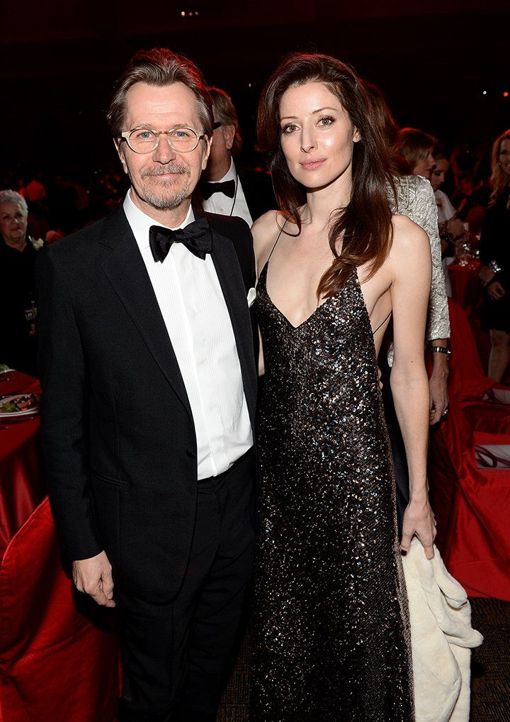 Actor Gary Oldman and his fourth wife Alexandra Edenborough attending the 25th annual Palm Springs International Film Festival in 2014. Image: Getty Images.