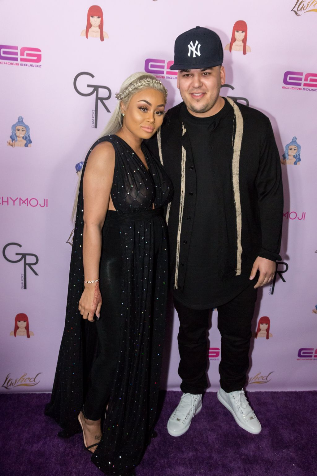 Rob Kardashian and Blac Chyna at the latter