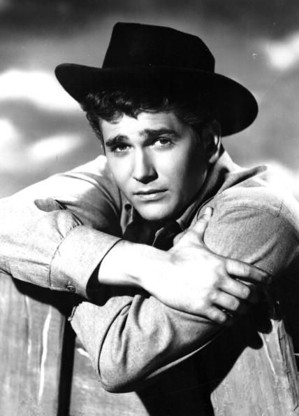 US actor, director and writer Michael Landon wearing a cowboy hat for his role in the TV series