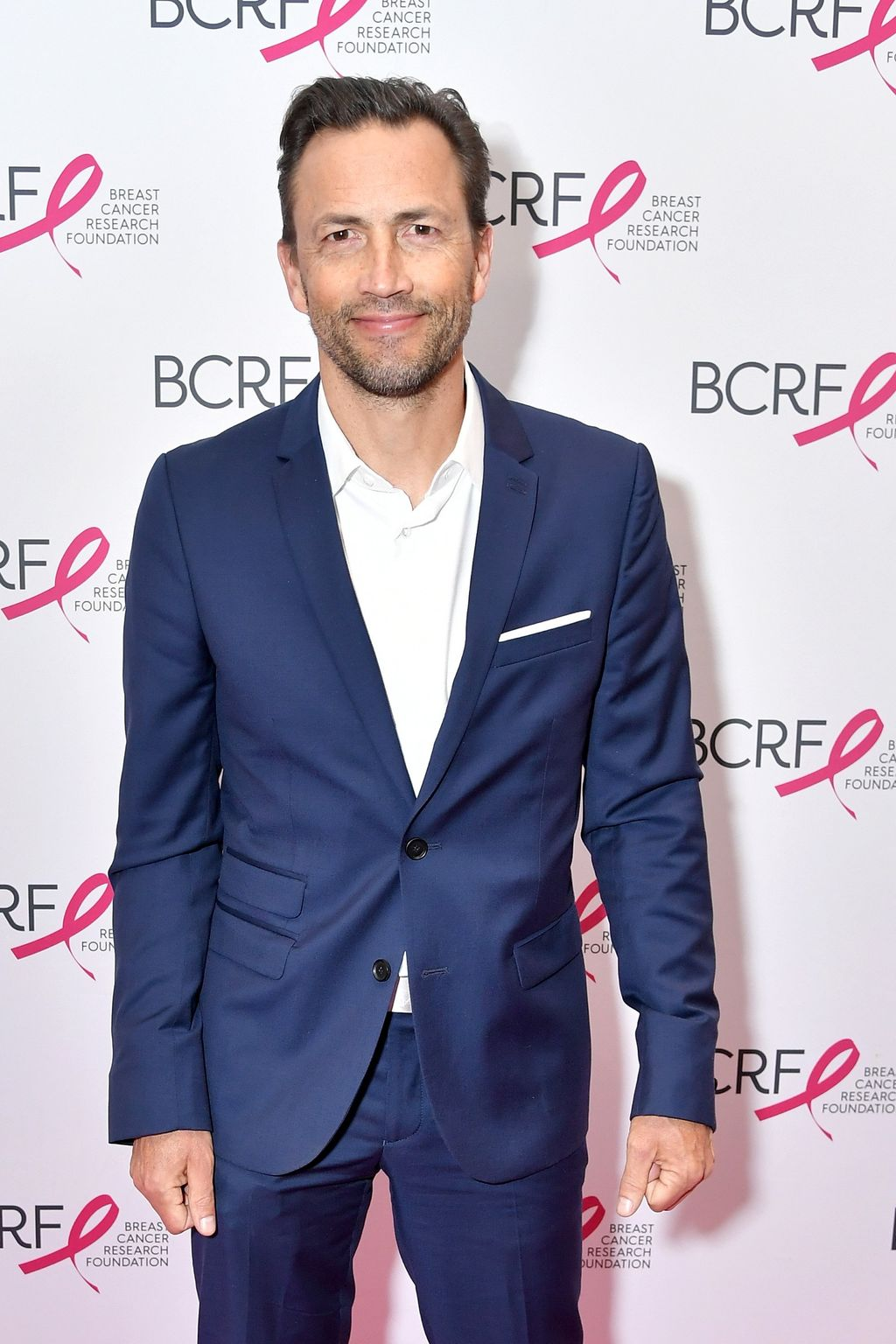 Andrew Shue attends the Breast Cancer Research Foundation (BCRF) New York Symposium & Awards Luncheon at New York Hilton Midtown at New York Hilton Midtown on October 25, 2018, in New York City. | Source: Getty Images.